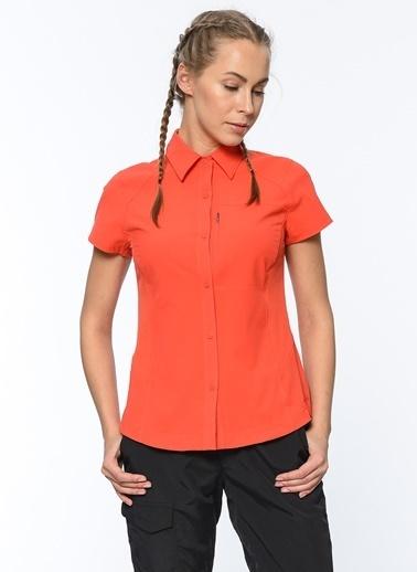 Columbia Kısa Kollu Gömlek Kırmızı